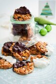 Florentines with chocolate glaze for Christmas