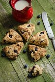 Blueberry and chocolate chips scones