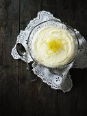 Lemon cream with lemon zest