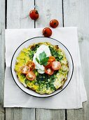 Vegetable and herb omelette