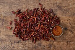 Dried chillies and chilli powder
