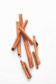 Cinnamon sticks from above