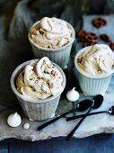 Frozen peanut butter custard cups