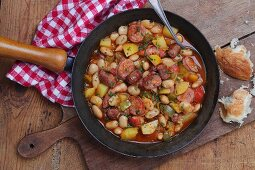 Rustic bean and sausage stew