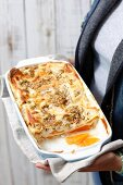 Lasagne with pumpkin and pumpkin seeds