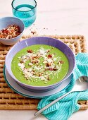 Fennel and pea soup