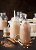 Spiced date shakes in small bottles
