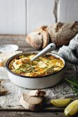 A frittata with smoked haddock