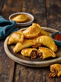 Empanadas filled with beef and olives