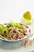 Cauliflower couscous with cranberries and herbs