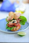 Plain Lobster Roll on Plate