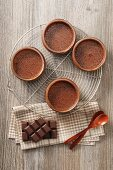 Chocolate mousse in glasses