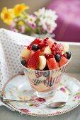 Fruit salad for a spring brunch