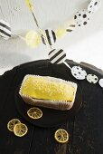 Lemon cake and homemade bunting