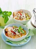 Poached coconut chicken with vermicelli