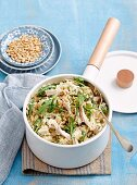 Blue cheese risotto with chicken
