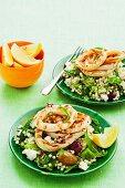 Mediterranean calamari with pearl couscous