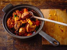 Southern pork stew with sweetcorn