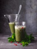 Pomegranate and ashweed smoothies with aloe vera