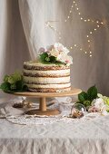 Vegan wholewheat cherry & poppy seed cake for Christmas