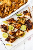 Peri-peri chicken with limes
