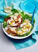 Garlic Bread Chicken Caesar Salad