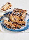 Gluten-free apple & blueberry loaf