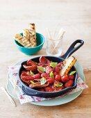 Chorizo and tomatoes