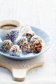 Sesame seed, date and walnut bites