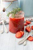 Strawberry jam with rosemary
