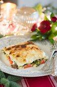 Vegetarische Mascarpone-Lasagne zu Weihnachten