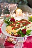 Vegetarische Polenta-Terrine zu Weihnachten