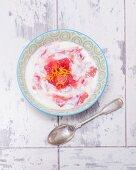 Yoghurt with rhubarb compote
