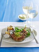 Barbecue Special - Pork Cutlets with Sage Butter & Potatoes