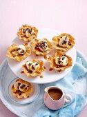 Banana and salted caramel tarts