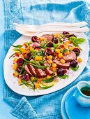 8 ways with summer stone fruit - Duck with stone fruit salsa