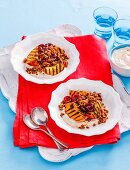 8 ways with summer stone fruit - Peach & cherry crumble