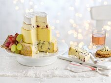 A stack of cheese as a Christmas digestive