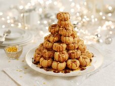 A stack of doughnuts for Christmas