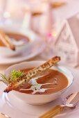 Velvety prawn soup for Christmas