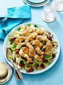 Sesame coronation chicken salad