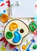 Artist s palette cake