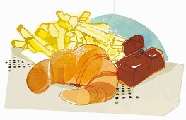 An illustration of hydrogenated fats