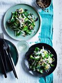 Char-grilled Brussels sprouts with apple and pepitas