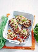 Rice Stuffed Eggplant & Capsicum