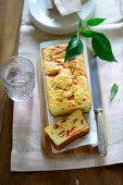 Parmesan cake with smoked peppers