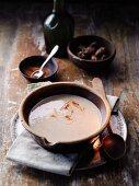 Cream of chestnut soup with white truffles à la Hildegard von Bingen