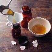 Olive and rose oil à la Hildegard von Bingen being made