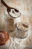 Various gluten free flour varieties