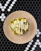 Tiradito salad with courgette and cucumber at the Charango restaurant, Cape Town, South Africa